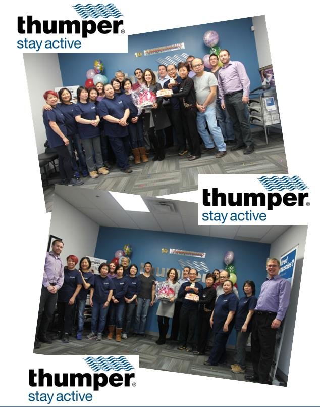 Thumper Staff Celebrates 10 Years of New Management and Ownership!