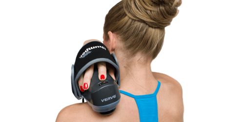 Thumper® Verve is easy to use; simply grip it like you would with a computer mouse, strap the flexible band across the back of your hand, and you're ready to unleash its power.